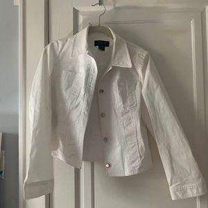 jones new york white jean jacket